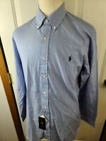 Polo Ralph Lauren Mens 100% Cotton Stretch Long Sleeve Striped Shirt Large NWT