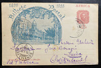 1903 Portuguese Mozambique Stationery Postcard Cover To Sonvillier Switzerland