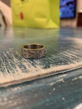 Women Fashion Flower Stainless Steel Zirconia Ring Size 7
