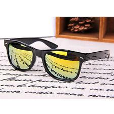 Sonnenbrille Schwarz Glänzend Rahmen Klassisch Vintage Retro Mann-frauen Brille