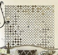 """Dazzling 40"""" Mirrored Wall Art Contemporary Modern NEIMAN MARCUS Metal Square"""