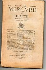 Mercure de France revue n°617 1924 Rimbaud, Raffaelli, Balzac, Sahara train