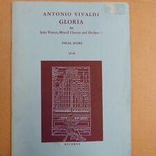 vocal score VIVALDI gloria , oxford choral works