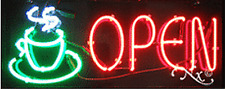 "BRAND NEW ""OPEN"" 32x13 W/LOGO REAL NEON SIGN w/CUSTOM OPTIONS 10601"