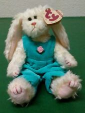 Retired Ty Attic Treasures Collection Ivy the Bunny Jointed From & To Swing Tag