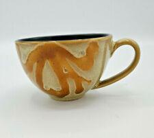 Pier 1 Gold Brown Hand Painted Replacement Stoneware Tea Coffee Cup Mug Kioki