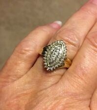 .50 CT. OVAL DESIGN DIAMOND COCKTAIL RING 10K YELLOW GOLD