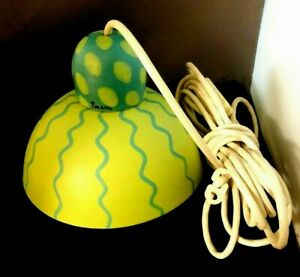 RARE 1960's Paradisverkstan Oland Sweden Art Pottery Hanging Lamp