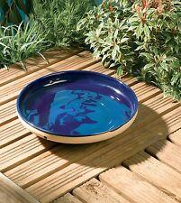 """Rainbow Gardman Mini Glazed Bird Bath Blue RGBA01124 , 1.8""""x8""""x8"""" By Gold Crest"""
