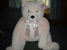 HUGE JUMBO PLUSH PINK TEDDY BEAR-MELISSA AND DOUG BABY ROOM DECOR CHILDS GIFT