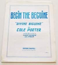 Partition vintage sheet music COLE PORTER : Begin the Beguine * 30's