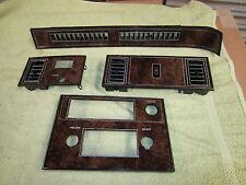1978 1979 1980 Oldsmobile Cutlass Radio & Dash Trim Plate Parts Lot