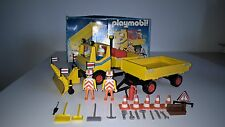 VINTAGE PLAYMOBIL CHANTIER 3454 : Camion chasse neige entretien route