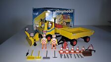 VINTAGE PLAYMOBIL CHANTIER 3454 : Camion chasse neige entretien route
