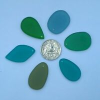 1Pc Beach Sea Glass Green Bottleneck Tumbled Recycled Artificial Decor JCT ECO®