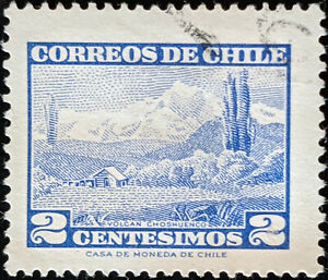 Stamp Chile SG492 1961 2c Choshuenco Volcano Used