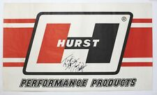 Linda Vaughn Orig 1970 Hurst Shifter Signed Poster Oldsmobile Auto Racing Banner