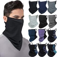 Face Mask Neck Gaiter Covering Bandana Reusable Neckerchief Scarf with Ear Loops