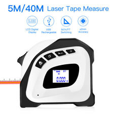 Handheld 2 in 1 40M Laser Range Finder Tape Measure Max&Min Area Distance Meter