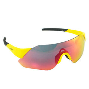 Shimano Aerolite CE-ARLT1 Cycling Sport Sunglasses, Yellow x Smoke Red MLC