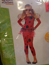 NWT Girls California Costume Love Bug Red Black Halloween Costume Size 8 10