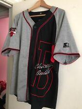 VINTAGE Chicago Bulls STARTER Baseball Style Jersey Men's L 1990s Pro Team