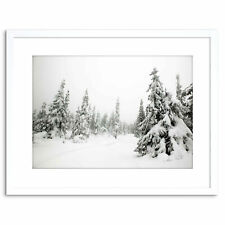 Photo Landscape Winter Scene Snow Forest Trees Framed Print 9x7 Inch