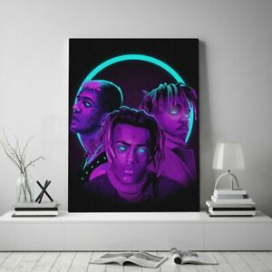 Juice Wrld XXXtentacion Lil Peep Singers Poster Canvas Painting Wall Art Décor