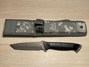 "Gerber Warrant Fixed Combat Knife 4-1/2"" Tanto Combo Blade, Aluminum Handle"