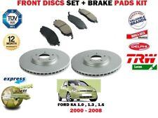 FOR FORD KA 1.0 1.3 1.6 2000-2008 FRONT VENTED BRAKE DISCS SET + PADS KIT