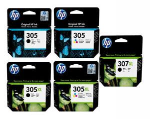 Genuine HP 305, Black & COLOUR Ink Cartridge, for 2710 2720 307XL, 305XL LOT
