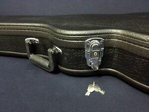 Premium Arch Top HARD Case for LP Style Electric Guitar – Lockable. Black 050LP