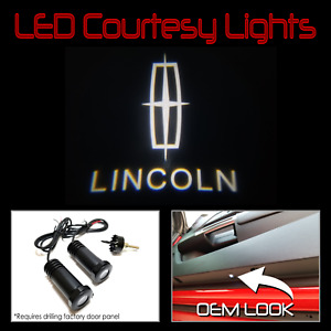 Lumenz CL3 LED Courtesy Logo Lights Ghost Shadow for Lincoln 100622 White