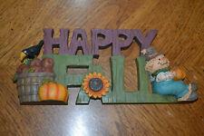 "Heavy ceramic ""Happy Fall"" shelf decoration - Fb4"