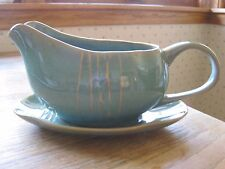 Karen Neurburger Willow gravy boat w/saucer.  Green w/tan accents. Perfect