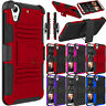 Rugged Hybrid Armor Shockproof Cover + Belt Clip Holster For HTC Desire 626 626S