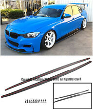 For 12-Up BMW F30 3-Series Performance Side Skirts Extension Splitter Moulding