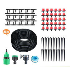 25M Water Irrigation Kit Set Micro Drip Watering System Auto Plant Garden Adjust