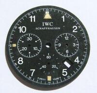 IWC SCHAFFHAUSEN CHRONOGRAPH ZIFFERBLATT DIAL SCHWARZ BLACK I028