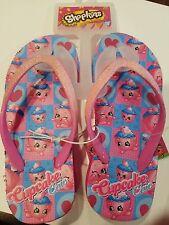 Shopkins Cupcake Chic Wedge Sandals Flip Flops Beach Girls Shoes Size S 13/1