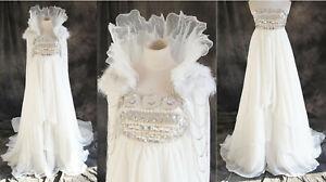 H-030 Sailor Moon Queen Serenity Luxus Cosplay Kostüm Abend-Kleid Braut weiß