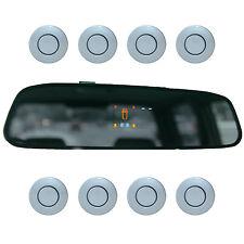 "Einparkhilfe ""Parking Welt"" 8x Sensoren 21mm Silber-Blau Rückfahrwarner PDC M15"