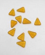 Beads Wedding Glass Matte Gold Triangle Beads 18mm