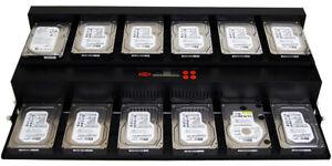 SySTOR 1:11 SATA Flatbed Hard Disk Drive HDD SSD Duplicator Sanitizer-300MB/sec