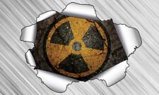 Cool Rasgada/rasgado efecto de metal Bandera activo de Radio-Vinilo Pared, Coche, etiqueta engomada