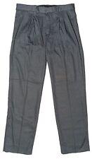 Big Boys Pleated Trousers Classic Grey Charcoal School Pants