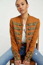 Free People Military Embroidered Band Jacket Size XS NWT