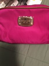 Michael Kors Fuschia Nylon Large Travel Pouch NWT