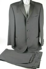 "Men's Daniel Hechter Black Evening Dinner Suit Jacket 44"" L Trousers 38"" Waist"