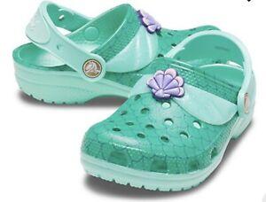 CROCS Disney Princess I Am Ariel Little Mermaid Clogs J1 NEW W/ TAGS *Free Ship*